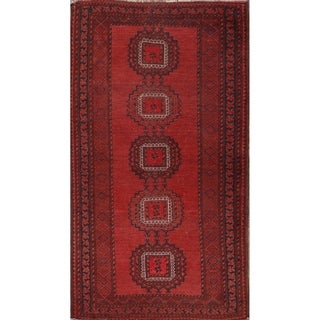 "Antique Balouch Afghan Hand Knotted Wool Oriental Traditional Area Rug - 7'0"" x 3'10"""
