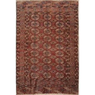 "Pre-1900 Kazak Hand Knotted Wool Antique Oriental Area Rug - 5'5"" x 3'6"""