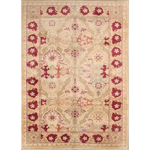 "Oushak Hand Knotted Wool Oriental Floral Area Rug - 11'10"" x 8'9"""