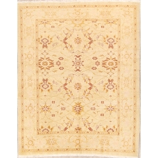 "Traditional Oushak Handmade Peshawar Oriental Floral Area Rug - 8'2"" x 6'6"""