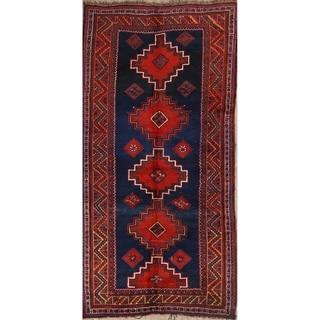 """Lori Handmade Wool Vintage Persian Geometric Rug - 10'2"""" x 5'0"""" Runner"""