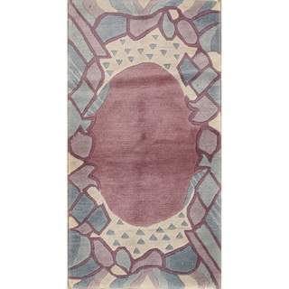 """Contemporary Nepal Hand Knotted Wool Oriental Area Rug - 4'8"""" x 2'6"""""""