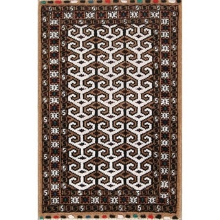 """Balouch Hand Knotted Woolen Persian Geometric Area Rug - 3'7"""" x 2'7"""""""