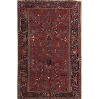 """Antique Heriz Wool Hand Knotted Persian Area Rug Geometric - 9'5"""" x 6'2"""""""