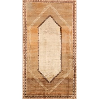 """Gabbeh Shiraz Hand Knotted Vintage Persian Tribal Area Rug - 7'3"""" x 3'11"""""""
