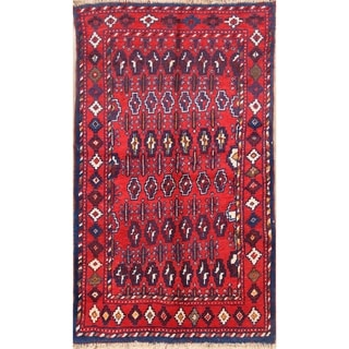 """Geometric Balouch Hand Knotted Oriental Persian Area Rug  Wool - 5'9"""" x 3'4"""""""