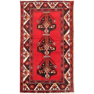 "Balouch Hand Knotted Woolen Vintage Persian Geometric Area Rug - 6'5"" x 3'8"""