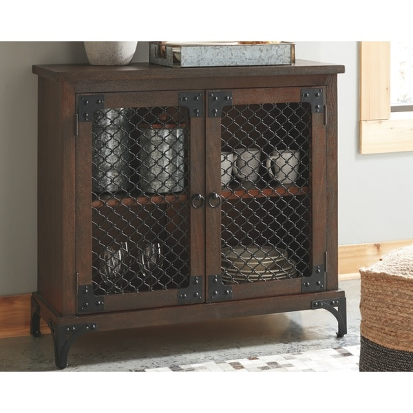Havendale Brown/Black Accent Cabinet