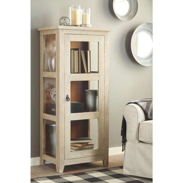 Kayton Antique Gray Casual Accent Cabinet