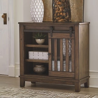 The Gray Barn Gwennere Brown Accent Cabinet