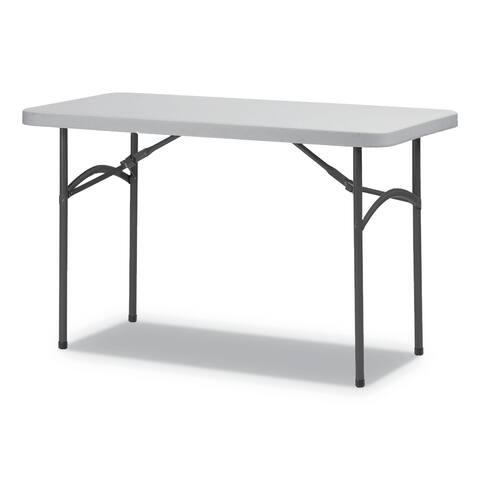 Alera Rectangular Plastic Folding Table, 48w x 24d x 29h, Gray