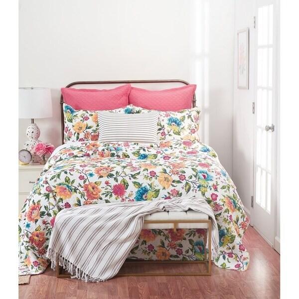 Summer Floral Cotton Quilt Set