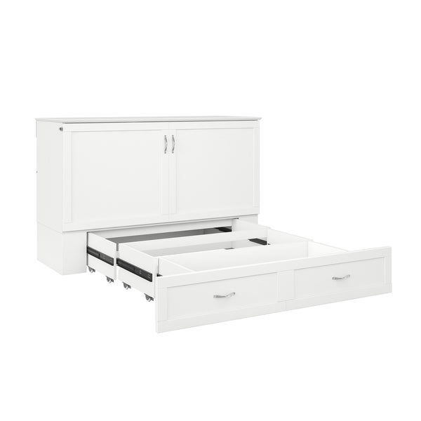 Shop Hamilton Murphy Bed Chest Queen White With Charging