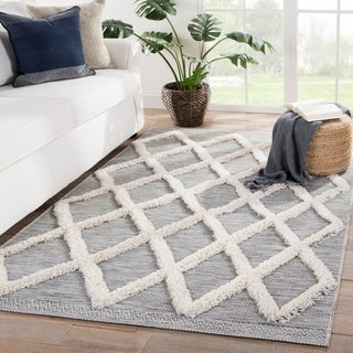 Ackley Indoor/ Outdoor Trellis Gray/ Cream Area Rug