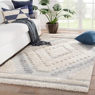 Kaya Indoor/ Outdoor Geometric Gray/ Cream Area Rug