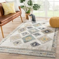 The Curated Nomad Lilah Indoor/Outdoor Tribal Blue/Yellow Area Rug