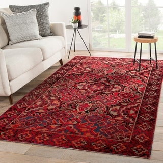 The Curated Nomad Brant Indoor/ Outdoor Medallion Red Area Rug