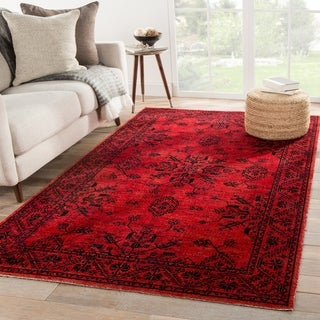 The Curated Nomad Breen Red Medallion Indoor/ Outdoor Area Rug