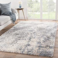 Broughton Abstract Gray/ Blue Area Rug