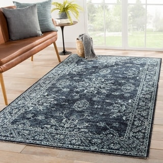 The Curated Nomad Breen Blue Medallion Indoor/ Outdoor Area Rug