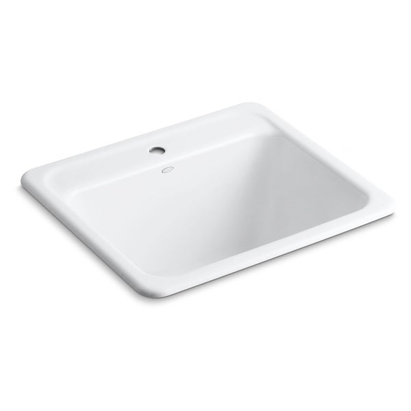 "Kohler Glen Falls 25"" X 22"" X 13-5/8"" Top-/Under-Mount Utility Sink with Single Faucet Hole"