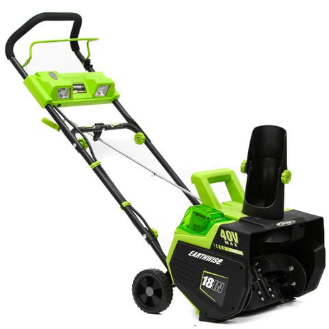 Earthwise 18- Inch Lithium 40 Volt Snow Thrower - Grey/Black/Green