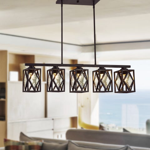 Fanwel Oil Rubbed Bronze 5-light Linear Chandelier