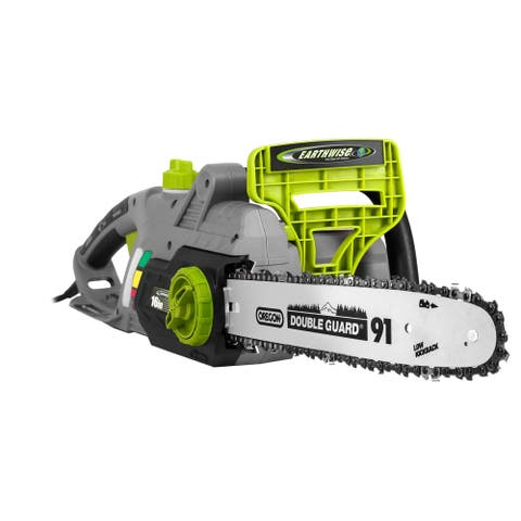 Earthwise 16- Inch Corded Chain Saw - Black/Silver