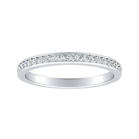 Auriya 1/5ctw Stackable Diamond Wedding Band Platinum