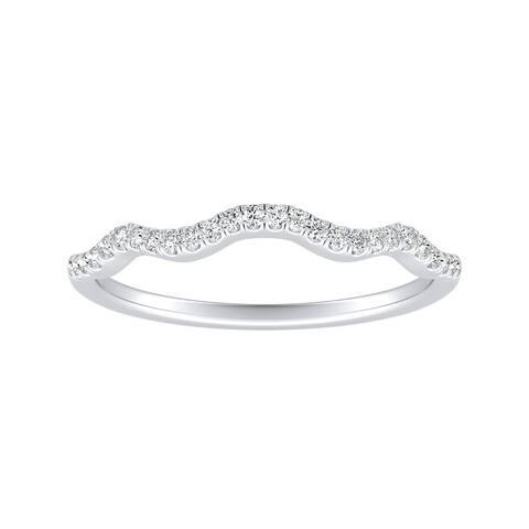Auriya 1/10ctw Curved Diamond Wedding Band Platinum