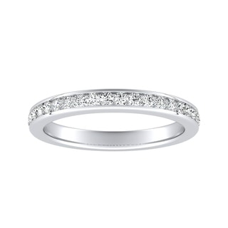 Auriya Platinum 1/4ctw Round Diamond Wedding Band