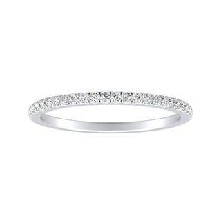 Auriya 1/8ctw Classic Diamond Wedding Band Platinum