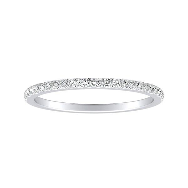 Auriya 1/8ctw Classic Diamond Wedding Band Platinum. Opens flyout.