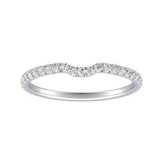 Link to Auriya Platinum 1/4ctw Stackable Diamond Wedding Band Similar Items in Wedding Rings