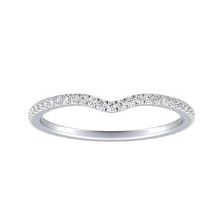 Auriya Platinum 1/5ctw Contoured Diamond Wedding Band