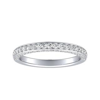 Link to Auriya Platinum 1/2ctw Double Edge Diamond Wedding Band Similar Items in Wedding Rings