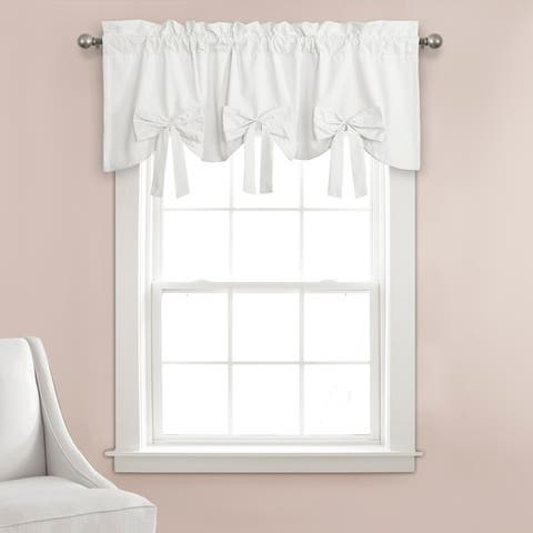 "Porch & Den Kino Springs Bow Window Curtain Valance - 18""H x 52""W - 18""H x 52""W"