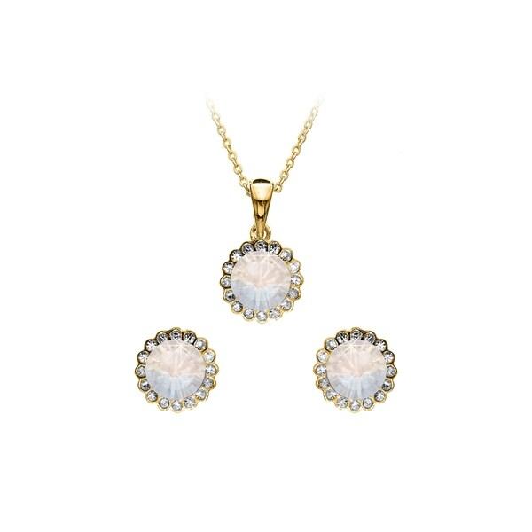 9e79a5f99d Isla Simone 2-Piece Gold Swarovski Crystal Flower Set