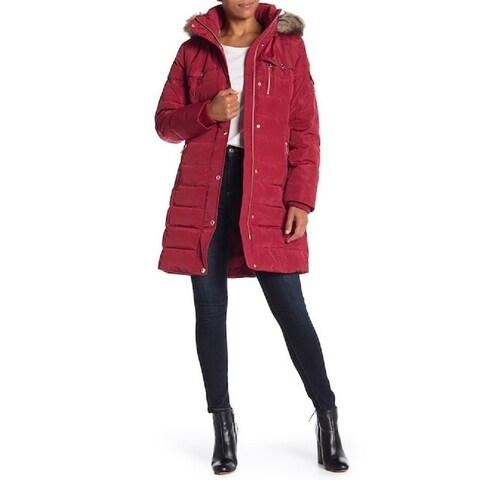 MICHAEL KORS Faux-Fur Trim Down Puffer Coat