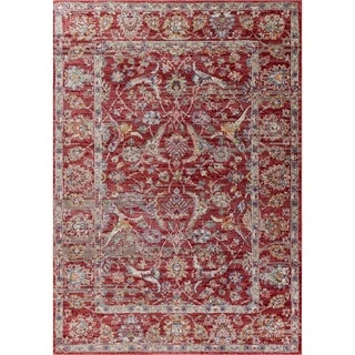 The Curated Nomad Parkside Red Traditional Area Rug