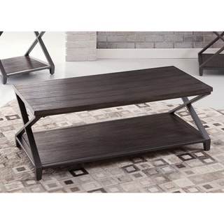 Alton Double X Style Wood and Metal Coffee Table by Greyson Living