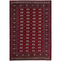 eCarpetGallery  Hand-knotted Finest Peshawar Bokhara Dark Red Wool Rug - 5'8 x 8'2