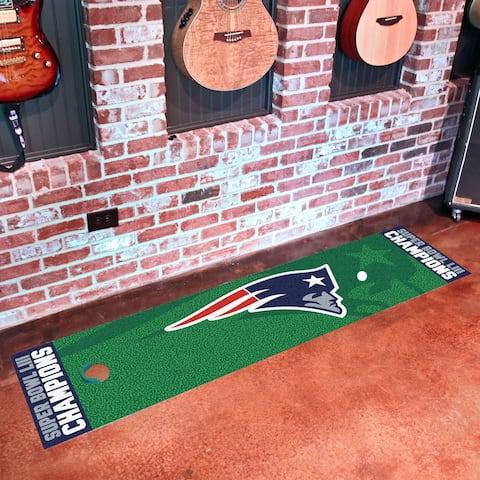 "New England Patriots Super Bowl LIII Champions Putting Green Mat 18""x72"""