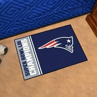 """New England Patriots Super Bowl LIII Champions Starter Mat 19""""x30"""" - 1'7"""" x 2'6"""""""
