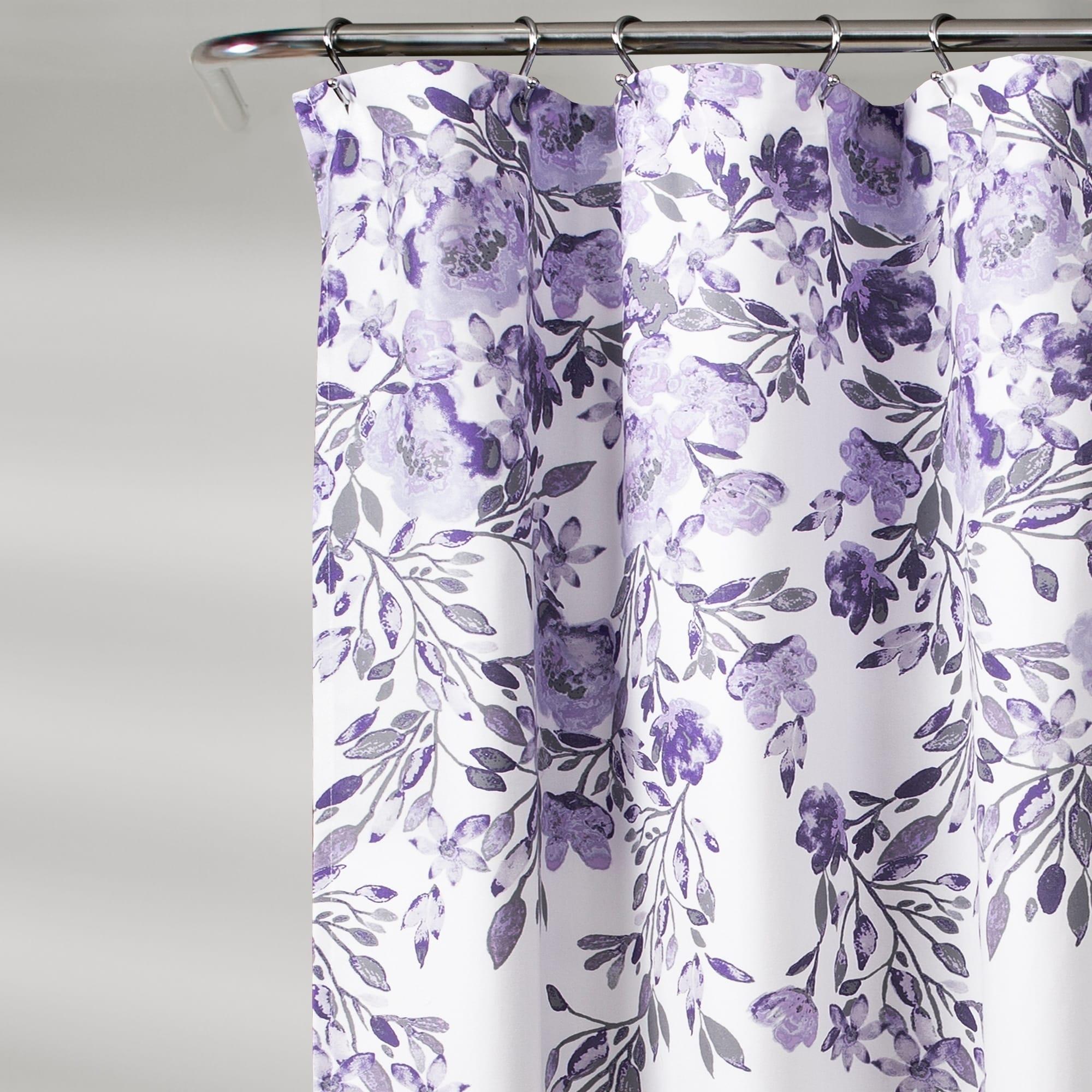 Porch Den Elcaro Floral Pattern Shower Curtain Overstock 26482985