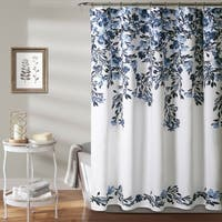 Porch & Den Elcaro Floral Pattern Shower Curtain