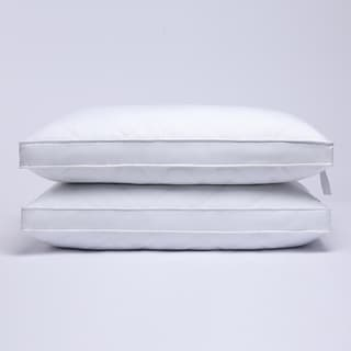 """Link to 2 Pack Premium Quilted 2"""" Gusset Goose Feather Bed Pillows for Side and Back Sleepers - White Similar Items in Pillows"""