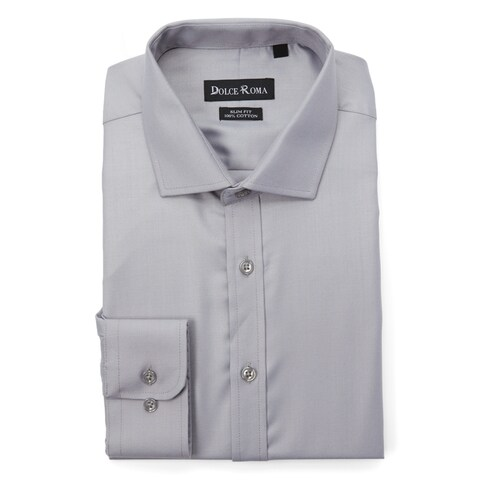 Dolce Roma 100% Cotton Slim-Fit Men's Dress Shirt