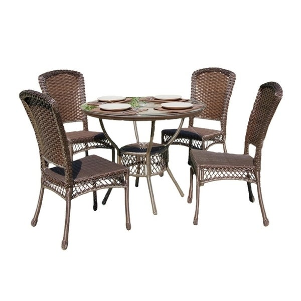 Earth Collection Outdoor Garden Patio Dinning Furniture Set