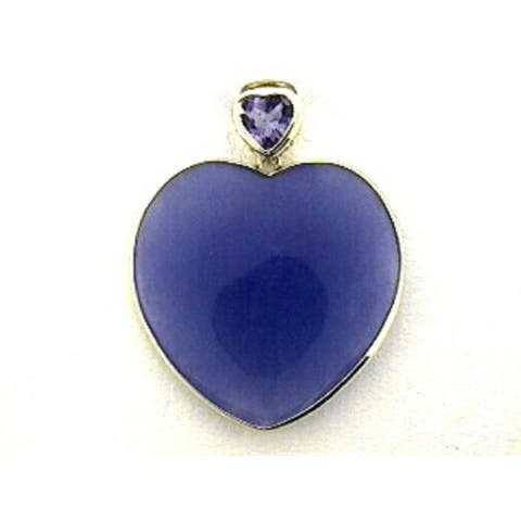 Amethyst Heart and a Lavender, by Pearl Lustre - Purple